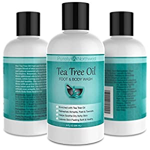 Antifungal Tea Tree Oil Body Wash, Great for Athletes, Foot Care, Body Odor and Toenails. Helps Deodorize- Leaving Skin, Feet and Nails Refreshed and Healthy Looking - 9 oz.