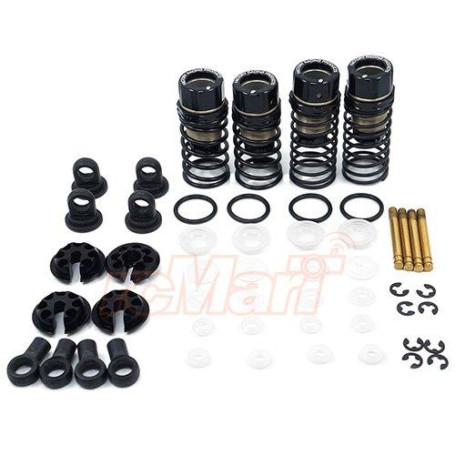 3Racing Aluminum Oil Damper Set 57mm Black For Sakura D4 AWD RWD (Oil Damper Set)