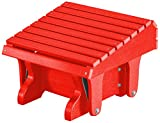 Little Cottage Company Heritage Gliding Footrest, Bright Red