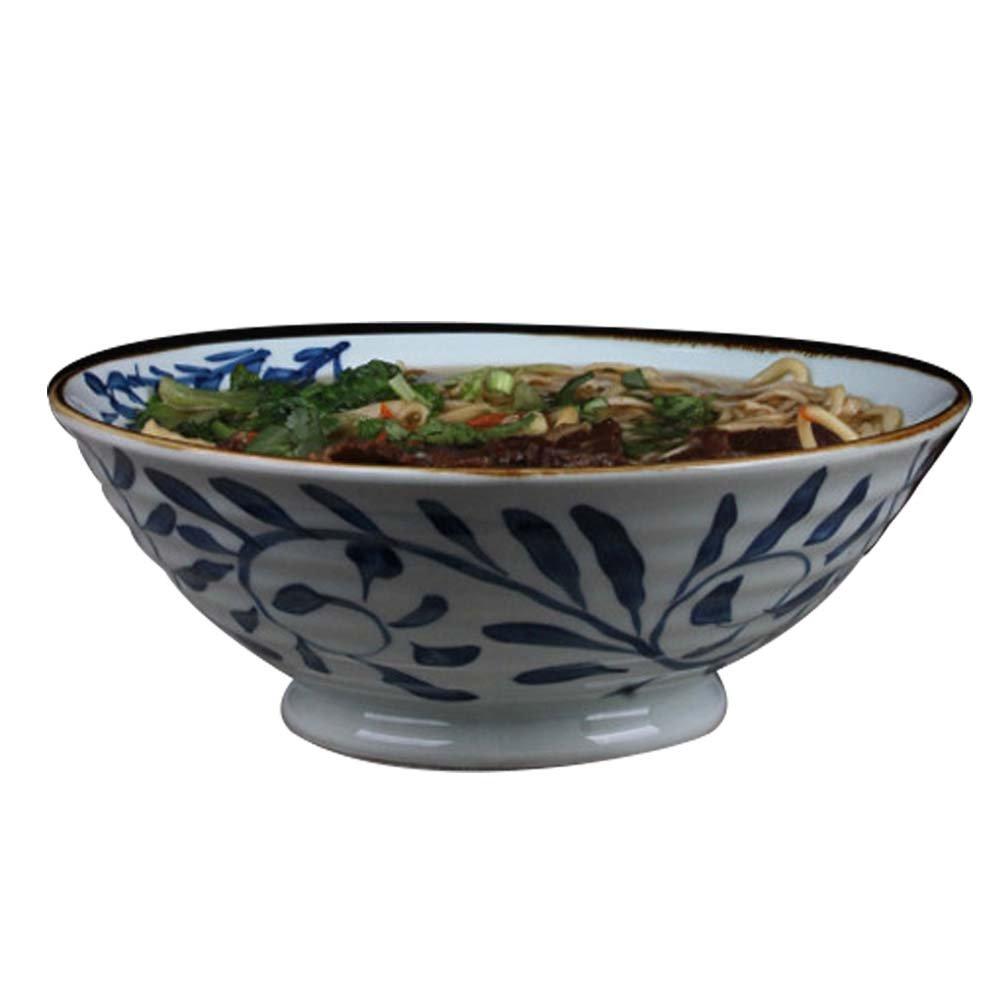 LXY Keramische Schalenschüssel-Suppenschüssel Der Schüssel Schüssel Der Großen Schüssel des Blauen Und Weißen Porzellans Kreative Keramische Schüssel (größe : 22.5  7.8CM)