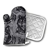 wolf steam oven - OIT43By Art Wolf Oven Mitts and Pot Holders for Kitchen Set, 1 Oven Gloves for BBQ Cooking Baking