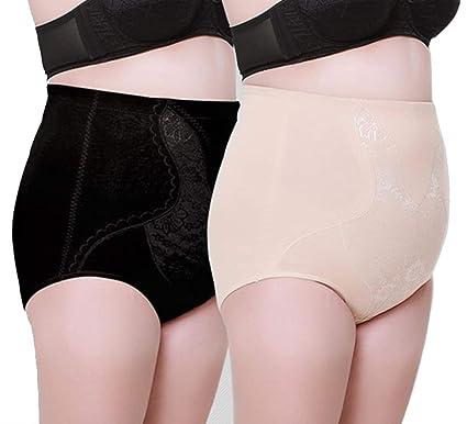 81093fa301def Max shape Women s High Waist Tummy Control Silm Panty Plus Size (Black ...