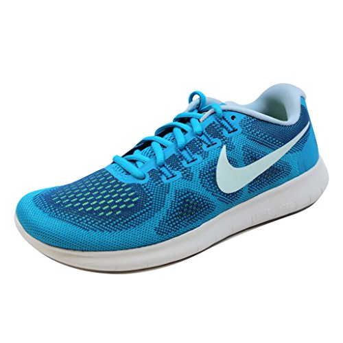 NIKE Womens Free RN 2017 Running Shoe Gym Blue Glacier Blue 401