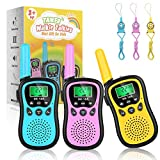 Walkie Talkies for Kids 3 Packs, 3 Miles Long Range, 22 Channels 2 Way Radios Toys Gifts for Boys & Girls, Backlit LCD & Built-in Flashlight for Indoor and Outdoor Games, Adventures, Camping