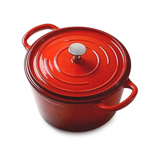 Tamaño del horno holandés Familia de hierro fundido Cazuela con ...
