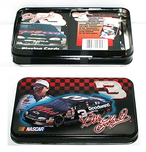 - Dale Earnhardt Sr. #3 Nascar 2 Decks of Playing Cards in Tin Box #322185