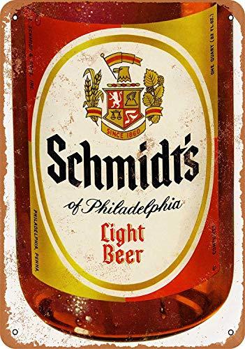 TTDECK Metal Sign Schmidt's Light Beer 8