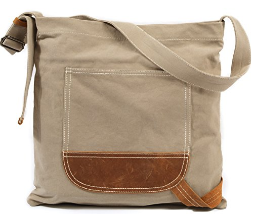 36df921687a7 Canvas Crossbody Bags for Women Over the Shoulder Bag Large Satchel Purse  Cross Body Travel Bag