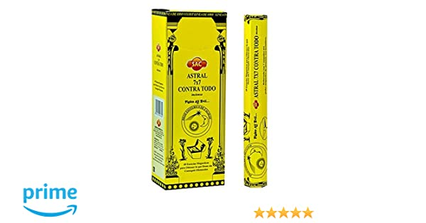 Sac Astral 7x7 Contra Todo Incense - 6 Packs, 20 Sticks per Pack