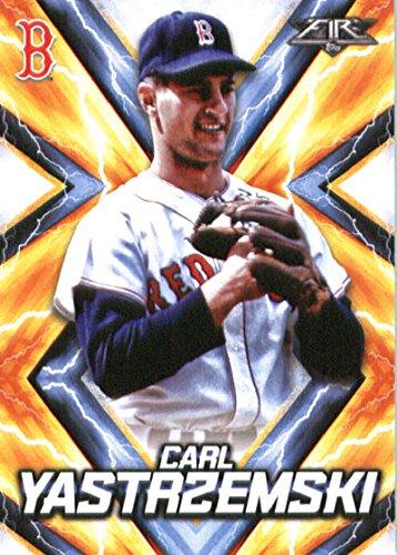 2017 Topps Fire #133 Carl Yastrzemski Boston Red Sox Baseball Card