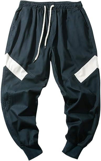 Hommes Linge Basse Entrejambe Baggy Sarouel Effilé Pantalon de survêtement taille élastique