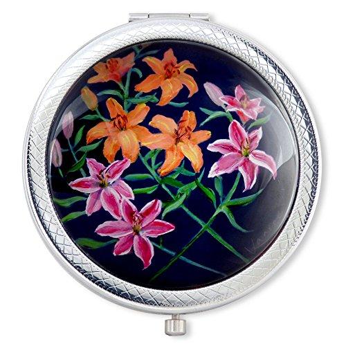 Anniversary Lily Bouquet (Vanroe 'Lily Bouquet' Luxury Compact Mirror in Gift Box - Anniversary Present Idea, UK Designer,)