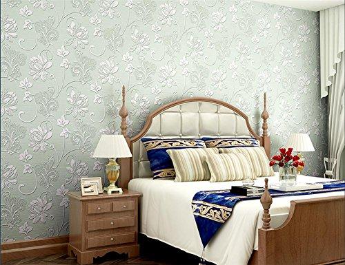 (HQW Wallpaper non-woven modern simple texture 3D solid color waterproof wallpaper decoration bedroom TV wall living room wallpaper -53 cm (W) 10 m(L) , light)