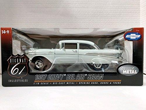 Highway 61 Diecast - Highway 61 1957 Chevy Bel Air Sedan 1:18 Scale Die Cast Replica