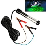 Goture 12V 10.8w 180 LEDs Submersible Fishing Light with 5m/12m Cord - Green