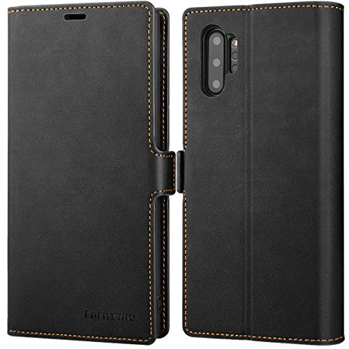 Galaxy Note 10 Plus Wallet Case Premium Leather Note 10+ Plus Folio Flip Case with Kickstand Card Holder Slots Screen Protector Shockproof Protective Cover for Samsung Galaxy Note 10 Plus 6.8