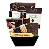 All About the Baskets Gourmet Chocolate Gift Basket Filled with Quality Chocolate Delights
