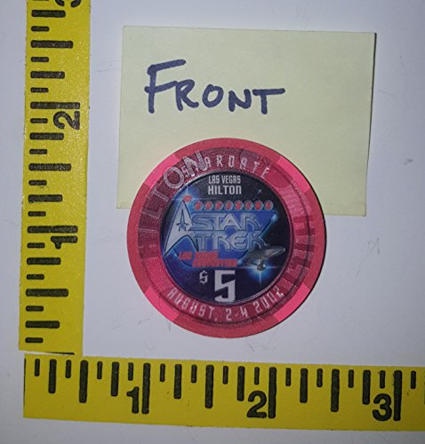 Star Trek Casino chip from the Hilton Star Trek convention 2002 RARE COLLECTIBLE