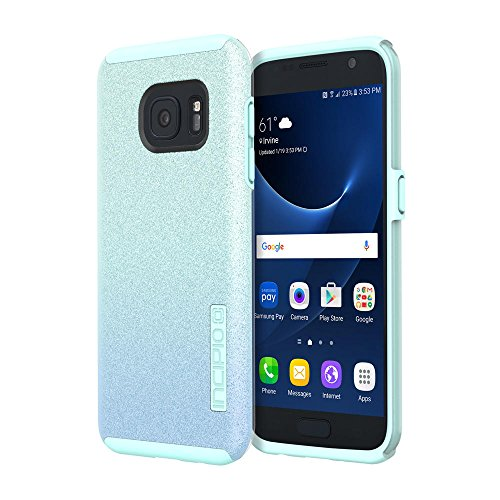 Samsung Galaxy S7 case, Incipio DualPro Glitter, [Design Series] Shock-Absorbing Impact-Reistant Dual-Layer Cover - Turquoise