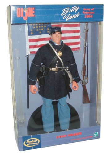 - GI Joe Year 2000 Hasbro Collectors Series 12 Inch Tall Action Figure - UNION SOLDIER Billy Yank Army of Potomac 1864 with Cap, Coat, Pants, Shoes, Belt, Belt, Messenger Bag, Bayonet with Sheath, Rifle, Union Flag and Display Stand