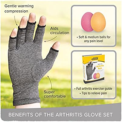 Penkwin® - 3 piezas de guantes de artritis y pelota de ...