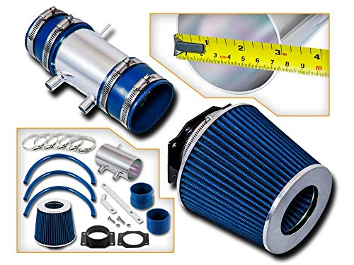 (Rtunes Racing Short Ram Air Intake Kit + Filter Combo BLUE Compatible For 99-04 Nissan Frontier/Xterra V6 & Supercharged ...)