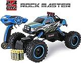 Coche con mando a distancia para niños - Rock Crawler 4x4 RC Car - 1/14 Rock Master Rock Crawler con controlador 2.4Ghz (Azul)