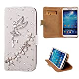 xhorizon® Premium Leather Flip 3D Bling Rhinestone Diamond Crystal Stand Wallet Case ZY for iPhone 4/4s/5/5s/6/6 Plus Samsung GALAXY S3/S4/S5/Note2/Note3/S3 Mini/S4 Mini