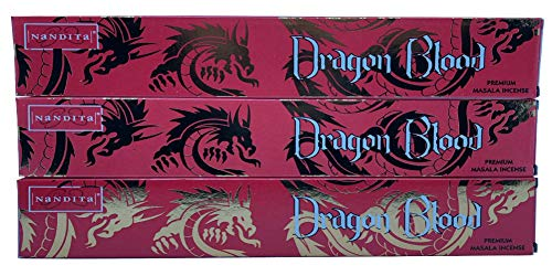 Nandita Dragon Blood Premium Masala Incense Sticks - Pack of 3 (15 Gram Each)