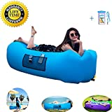 Fast Inflatable Lounger Air Sofa,Lazy Leisure Sleeping Bag for Lunch Break,Indoor or Outdoor Portable Lounge Chair with Carrying Bag,Stake for Travelling, Camping, Hiking, Park and Beach Parties