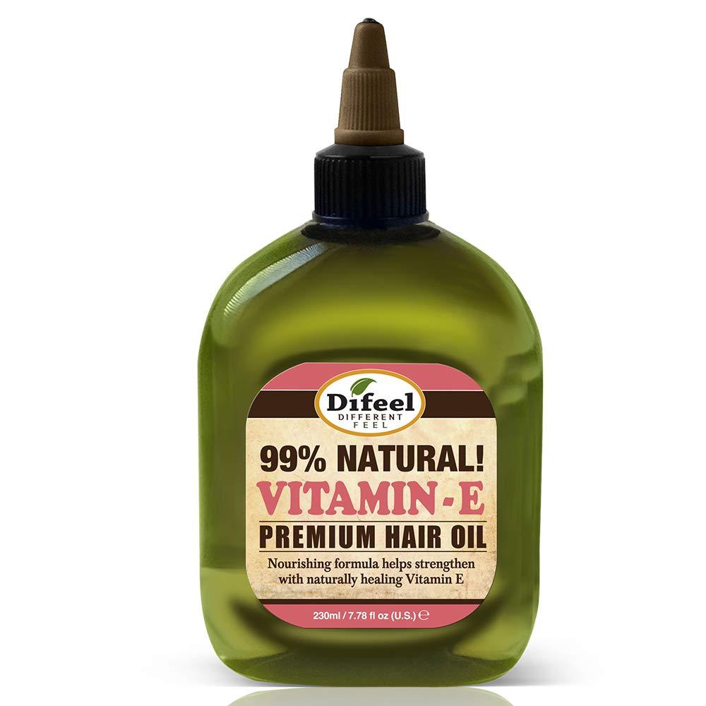 Difeel Premium Natural Hair Oil - Vitamin E Oil 8 ounce