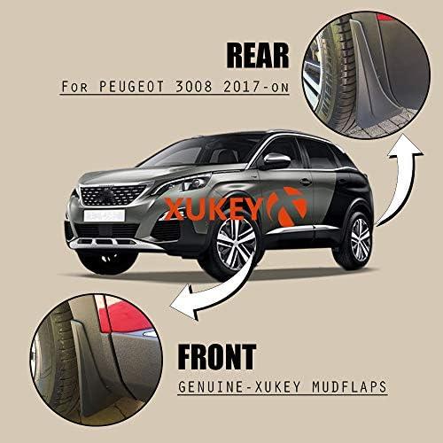 XUKEY Lot de 4 garde-boue moul/és pour 308 Mk2 T9 2014-2017 /à hayon