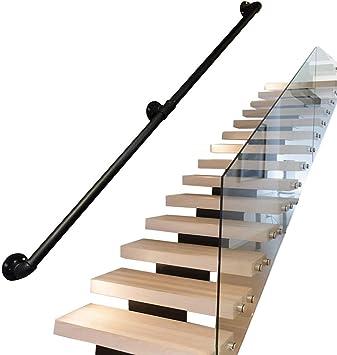Barandillas seguridad para escaleras exteriores interiores | Pasamanos para discapacitados, ancianos o niños en escalera interior o exterior | Barandilla barandilla Diseño tubería hierro forjado met: Amazon.es: Deportes y aire libre