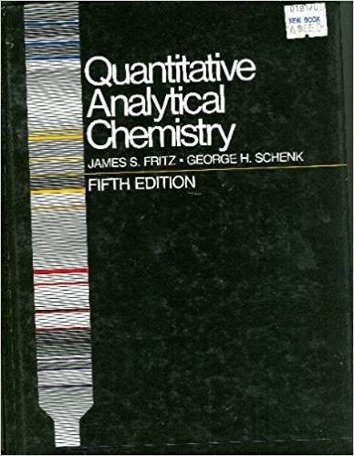 Quantitative Analytical Chemistry