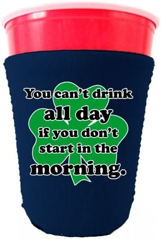 (Navy) - Coolie Junction Drink All Day Funny Solo Cup Coolie