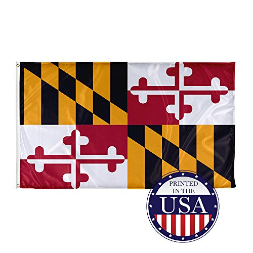 Vispronet - Maryland State Flag - 3ft x 5ft Knitted Polyeste