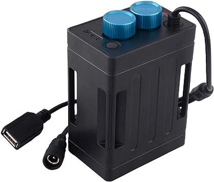 Ranuw 5V 8,4V 6 x 18650 Caja de batería impermeable para teléfono celular bicicleta lámpara: Amazon.es: Electrónica