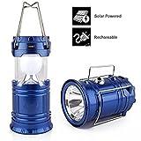 Generic Saleon Lantern LED Solar Emergency Light Bulb With Mobile Charging Facility-023 (Blue)