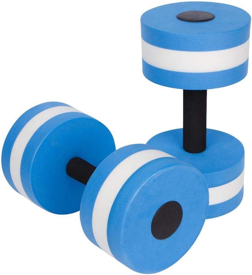 BESPORTBLE 2PCS Aquatic Exercise Dumbells EVA Water Barbells Hand Bar Blue
