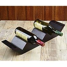 Rusticity Wooden Wine Rack / Wine Racks Countertop/ Bottle Holder - 5 Horizontal slots | Handmade |