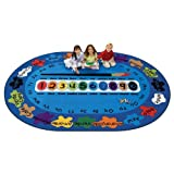 Carpets for Kids 5316 Bilingual Spanish Paint by Numero Kids Rug Size: 8'3″ x 11'8″, Blue