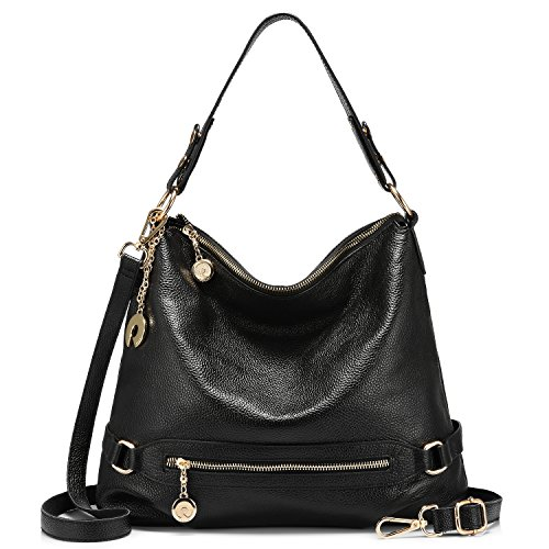 Black Hobo Bag Leather - 7