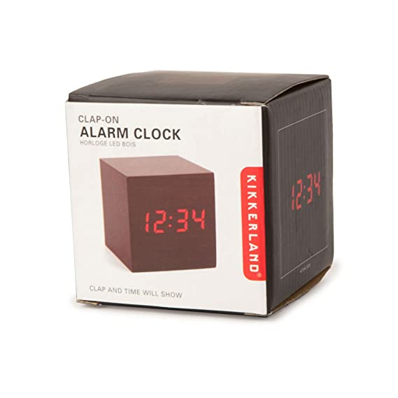 Captivating Amazon.com: Kikkerland AC22 DK Clap On Cube Alarm Clock, Dark Wood: Home U0026  Kitchen Pictures