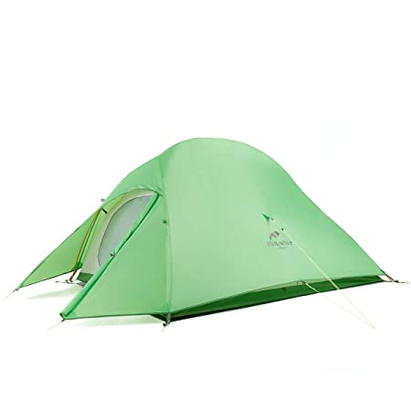 Naturehike Cloud-Up 1, 2 and 3 Person Lightweight Backpacking Tent with Footprint – 4 Season Free Standing Dome Camping Hiking Waterproof Backpack Tents