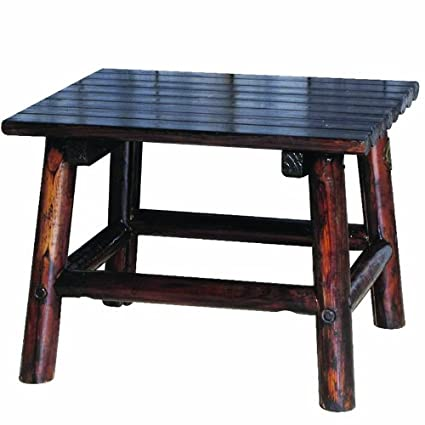 amazon com char log 24 inch by 20 inch wood end table garden