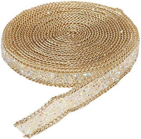 ラインストーンリボン クリスタルリボン ダイヤモンドリボン キラキラ 結婚式 装飾 工芸用 服 カバン 衣類飾り 靴の装飾 簡単