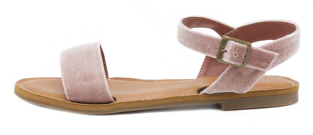 Frauen Flache Sandalen Blush Velvet Velvet Velvet 92ff9b
