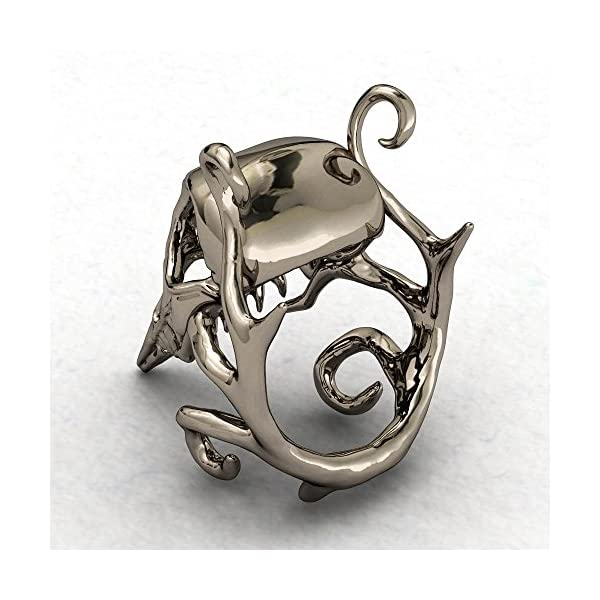EVBEA Crow Skull Ring Gothic Cool Statement Steampunk Monster Rings for Women 5