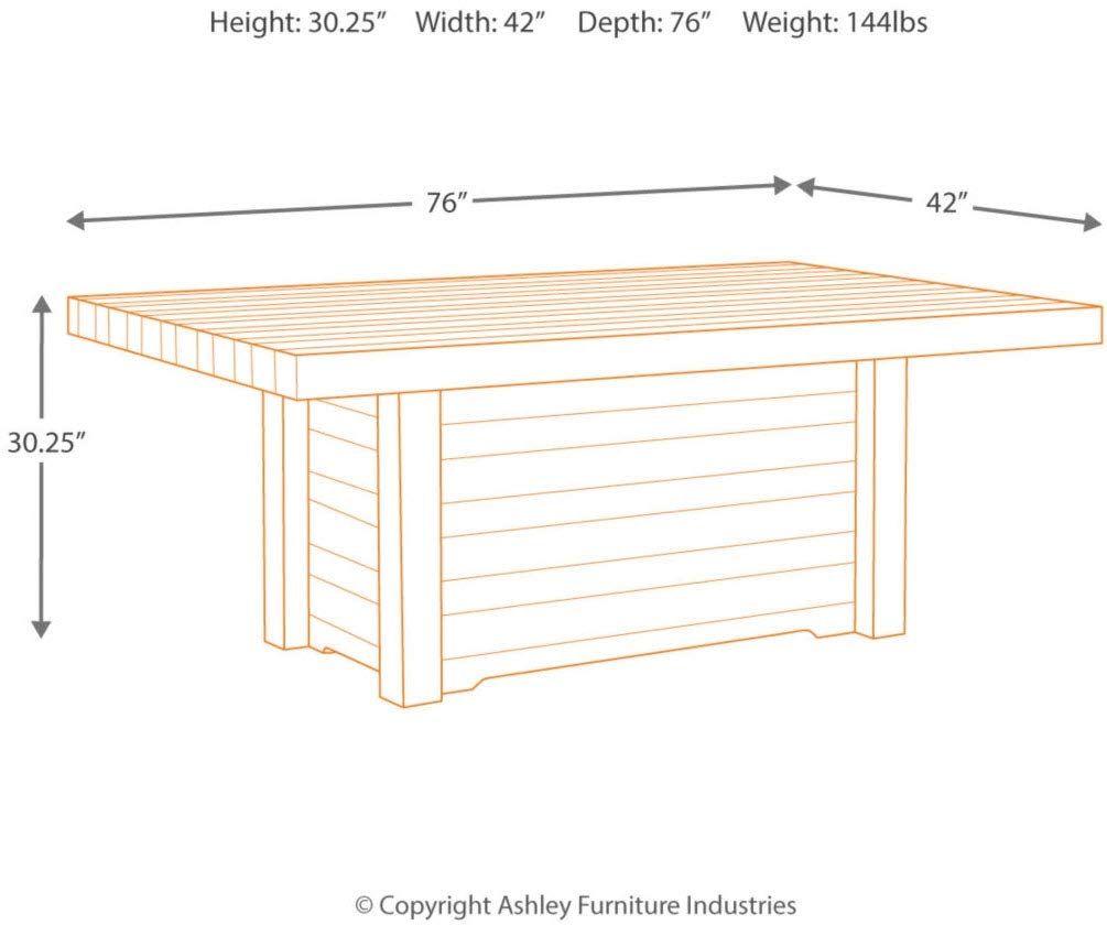 Signature Design by Ashley D775-25 Sommerford Dining Table, Summerford by Signature Design by Ashley (Image #4)