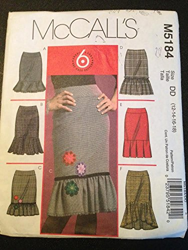 McCall's M5184 Sewing Pattern, Misses' Petite Skirts in Four Lengths, Size DD (12-14-16-18)